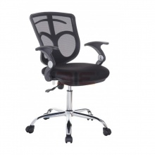 Ghế xoay IBIE IB514 lưng rời chân thép mạ màu đen
