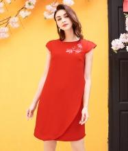 Đầm suông vẽ hoa-AD170361