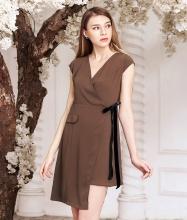 Đầm vạt xéo cột dây-AD170340