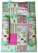 Bộ 4 món ga gối Sleep Baby - Happy Flower