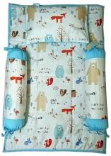 Bộ 4 món ga gối Sleep Baby - Bear Crossing