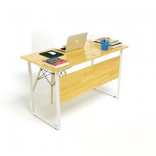 Bộ bàn Rec-F Plus chân trắng mặt tự nhiên và ghế Eames trắng chân gỗ