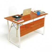 Bộ bàn Rec-F Plus chân trắng mặt cánh gián và ghế Eames trắng chân gỗ