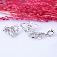 Bộ trang sức bạc Ronia Heart