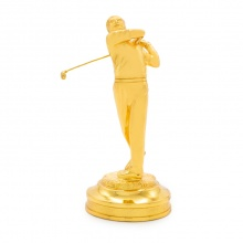 Quà tặng sự kiện ý nghĩa: Tượng người chơi Golf mạ vàng 24K