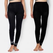 Combo 2 quần Legging cao cấp (đen + Xanh đen)