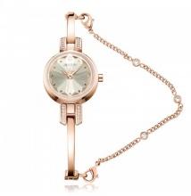 Đồng hồ nữ Julius Hàn Quốc dây kim loại JA-1033C (đồng)