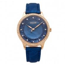 Đồng hồ nữ Julius hoa văn đính đá JA-852 JU1091(xanh)