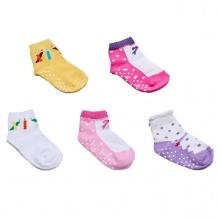 Combo 5 đôi vớ in chống trượt hình giày cho bé gái size M