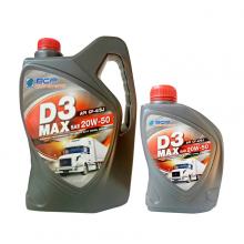 Nhớt xe ô tô tổng hợp BCP Thái Lan nhập khẩu D3 MAX CF4/SJ - SAE 20W50 - 6L tặng 1L