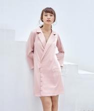 Đầm cổ vest tay loe - AD180160
