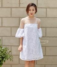 Đầm tay loa phối ren - AD180181
