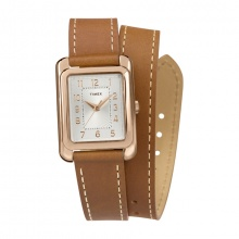 Đồng hồ nữ Timex Addison 25mm Double Wrap Leather Strap - TW2R91600