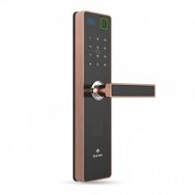 Khóa cửa bằng vân tay thẻ mật mã điều khiển Baling S1 (màu đen viền đồng đỏ)
