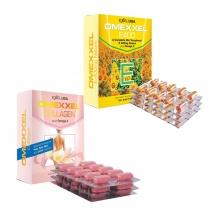 Bộ viên uống bổ sung Vitamin E, chống lão hóa Omexxel E400 & Collagen 60 viên - Xuất xứ Mỹ