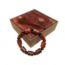 Vòng tay gỗ sưa đỏ 12 ly đốt trúc (size nam)