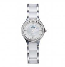 Đồng hồ nữ Valence Hàn Quốc dây đá cao cấp VC-016LA (trắng viền bạc)