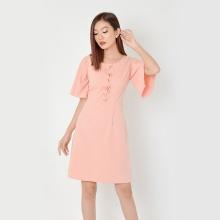 Đầm suông công sở thời trang Eden tay loe (hồng) - D334
