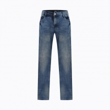 Quần jean nam dáng dài màu xanh mài nhẹ Hàn Quốc Orange Factory EQP9L311 MSL 36