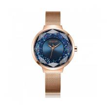 Đồng hồ Hàn Quốc nữ Julius JA-1111C dây thép đồng xanh
