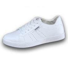 Giày nam thể thao da mềm sneaker trắng trắng trí gáy trắng