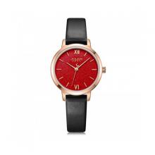 Đồng hồ nữ Julius Hàn Quốc dây da JA-1127D đen