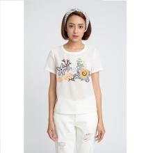 Áo trắng sợi lưới thêu - Mimi