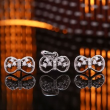 Bộ trang sức bạc Cute Bow