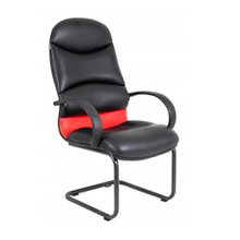 Ghế phòng họp IB4108 lưng da PU chân sơn tĩnh điện màu đen