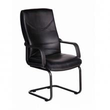 Ghế phòng họp IB4110 lưng da PU chân sơn tĩnh điện màu đen