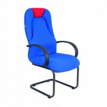 Ghế phòng họp IB4111 lưng da PU chân sơn tĩnh điện màu xanh