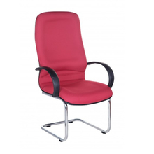 Ghế phòng họp IB4101 lưng cao chân sơn tĩnh điện màu đỏ