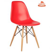 Ghế Eames chân gỗ DSW ( đỏ )