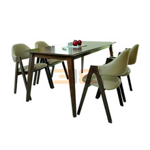 Bộ bàn ăn Emma màu walnut 4 ghế