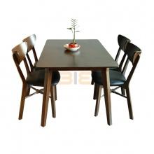 Bộ bàn ăn Osan màu walnut 4 ghế