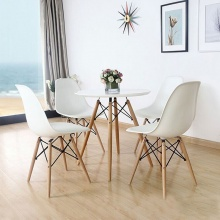 Bộ bàn tròn Eiffel 80x80cm và 4 ghế Eames