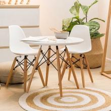 Bộ bàn tròn Eiffel 80x80cm và 2 ghế Eames