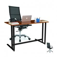 Bộ bàn Rec-U chân đen mặt cánh gián và ghế IB16A đen