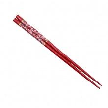 Set 1 đôi đũa Nhật mẫu hoa năm cánh (màu đỏ, đen) - Nội địa Nhật Bản