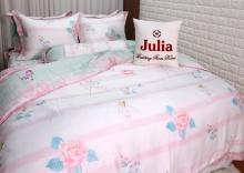 Bộ chăn ga gối lụa tencel tơ tằm Hàn Quốc Julia siêu mát mịn (bộ 5 món chần gòn 867BC16)160x200x25