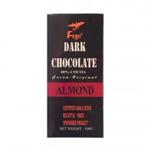 Kẹo socola đen đắng 80% cacao hạt hạnh nhân Figo 100gram