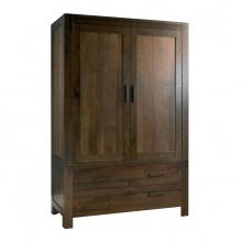 Tủ quần áo 2 cánh 2 ngăn kéo Lyon gỗ óc chó 1m0