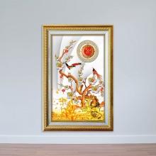 Tranh kim tiền - tranh cây mai vàng ngày tết - tranh chữ lộc- W1543