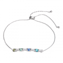 Lắc tay bạc PNJSilver Radiance of Joy mix đá Swarovski 92489.400