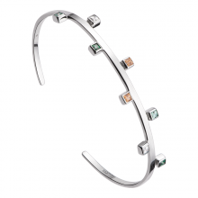 Vòng tay bạc PNJSilver Radiance of Joy mix đá Swarovski 92524.400