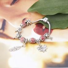 Opal - Vòng tay charm phủ bạch kim tặng kèm dây chuyền bạc cao cấp 250.000đ_ T12