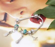 Opal - Vòng tay charm phủ hợp kim năng động tặng kèm dây chuyền bạc 250.000đ _T12
