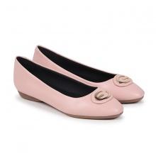 F01014 - Giày búp bê khóa tròn Nados (Hồng)