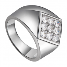Nhẫn nam bạc đính đá PNJSilver XM00K000143