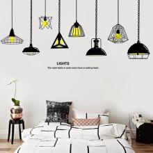 Decal dán tường bộ bóng đèn màu đen PK500 (Kích thước :89x100cm)